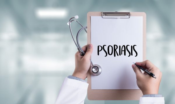 Psoriasis Diagnosis, Medical Concept. Composition of Medicaments