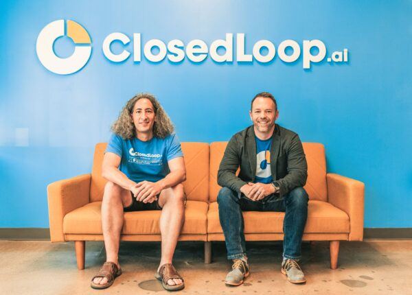 Portrait of ClosedLoop.ai co-founders Dave DiCaprio (left) and Andrew Eye (right).