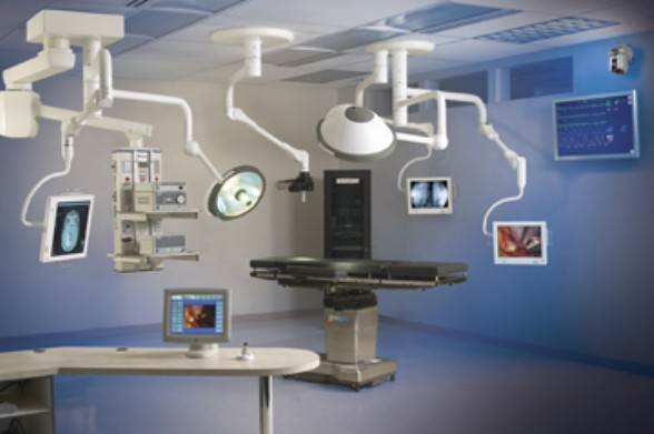 Integrated operating room suite, courtesy of STERIS Corp