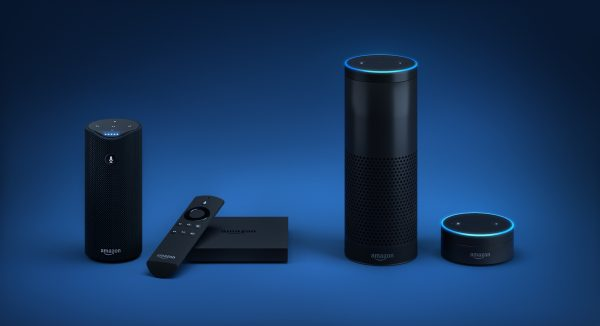 Amazon's Echo, second from right