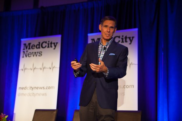 Dr. Eric Topol speaks at MedCity ENGAGE, Oct. 18, 2016 in San Diego.