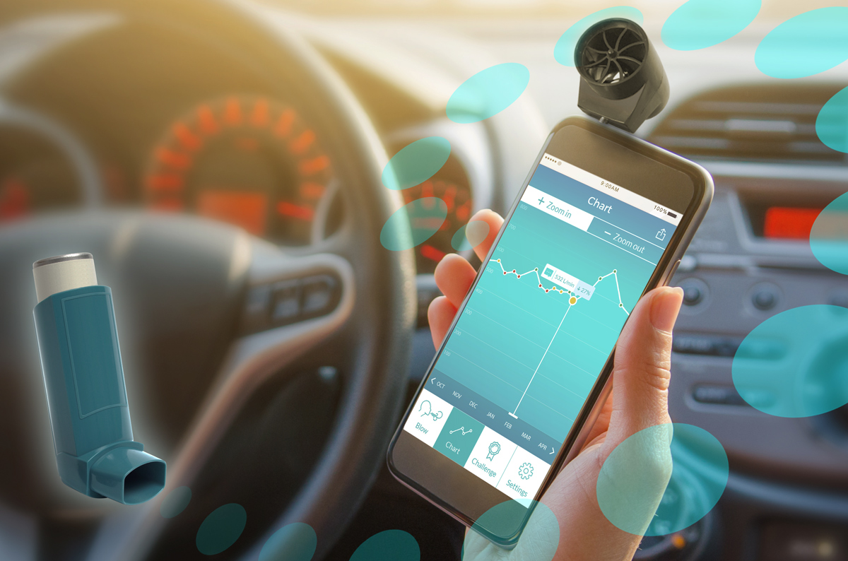 London startup successfully completes kickstarter campaign to the smart peak flow meter measures the ability of asthma patients to breathe out air nvjuhfo Choice Image