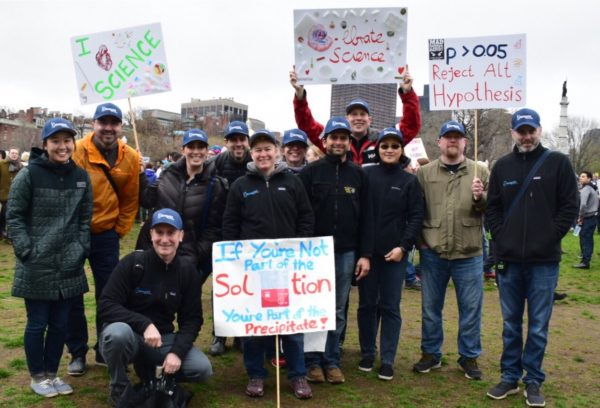 The march for science politics puns and plenty of numbers the blueprint medicines team at the march in boston malvernweather Choice Image