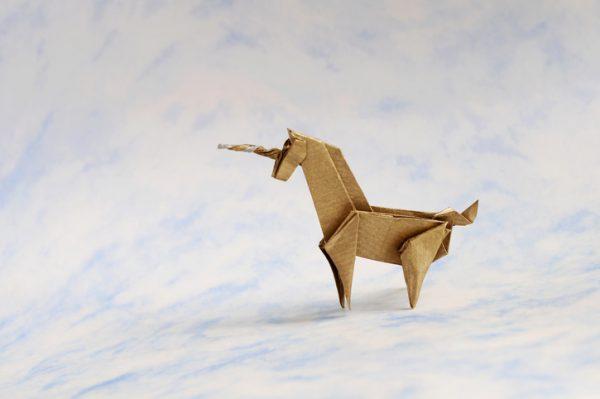unicorn, origami