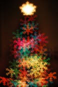 snowflakes Christmas tree Christmas light