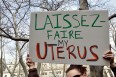 Women's health protest uterus