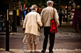 elderly couple senior citizens senior woman
