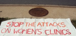 abortion clinic sign