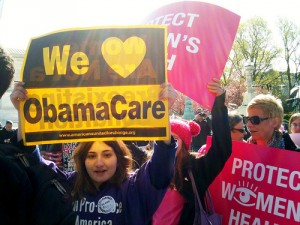 Obamacare women's health rally