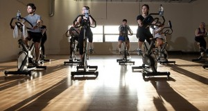 spinning class exercise gym