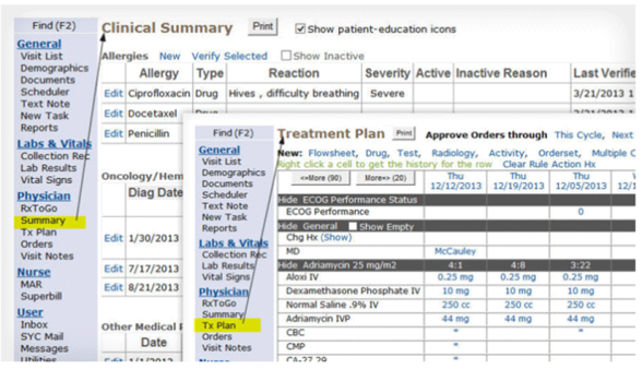 Altos Solutions OncoEMR screengrab from website