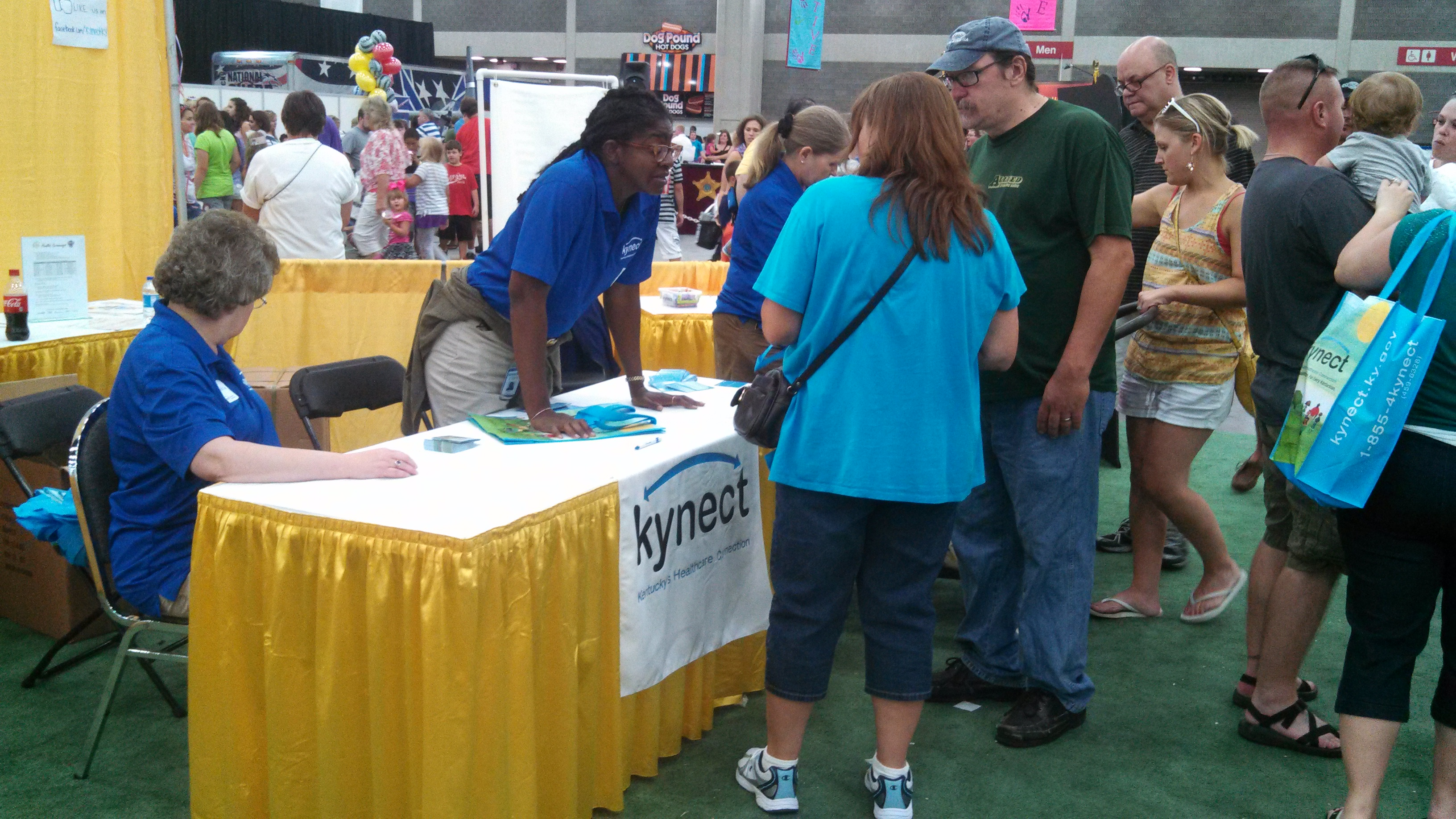 Kynect Booth at the Kentucky state fair