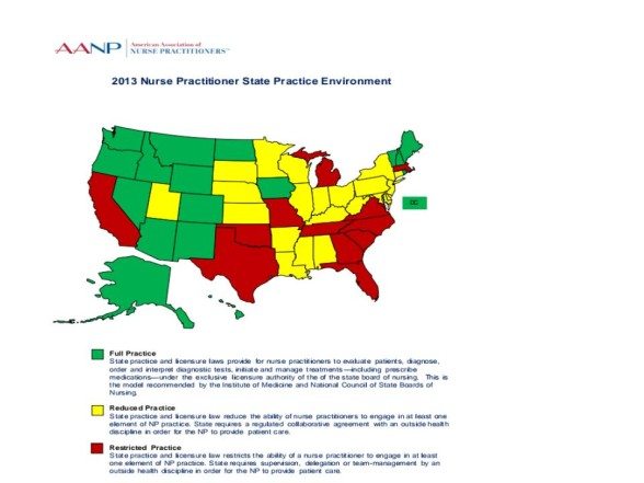 Copy of AANP state policy map