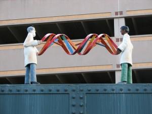 DNA statue