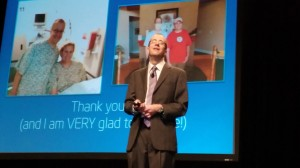 Eric Dishman, general manager of Intel's Health & Life Sciences Group, speaks at HIMSSS 2014.