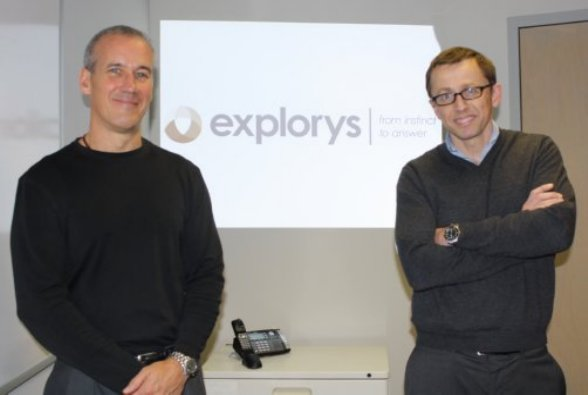 Steve McHale, left, and Charlie Lougheed started Explorys in 2009.