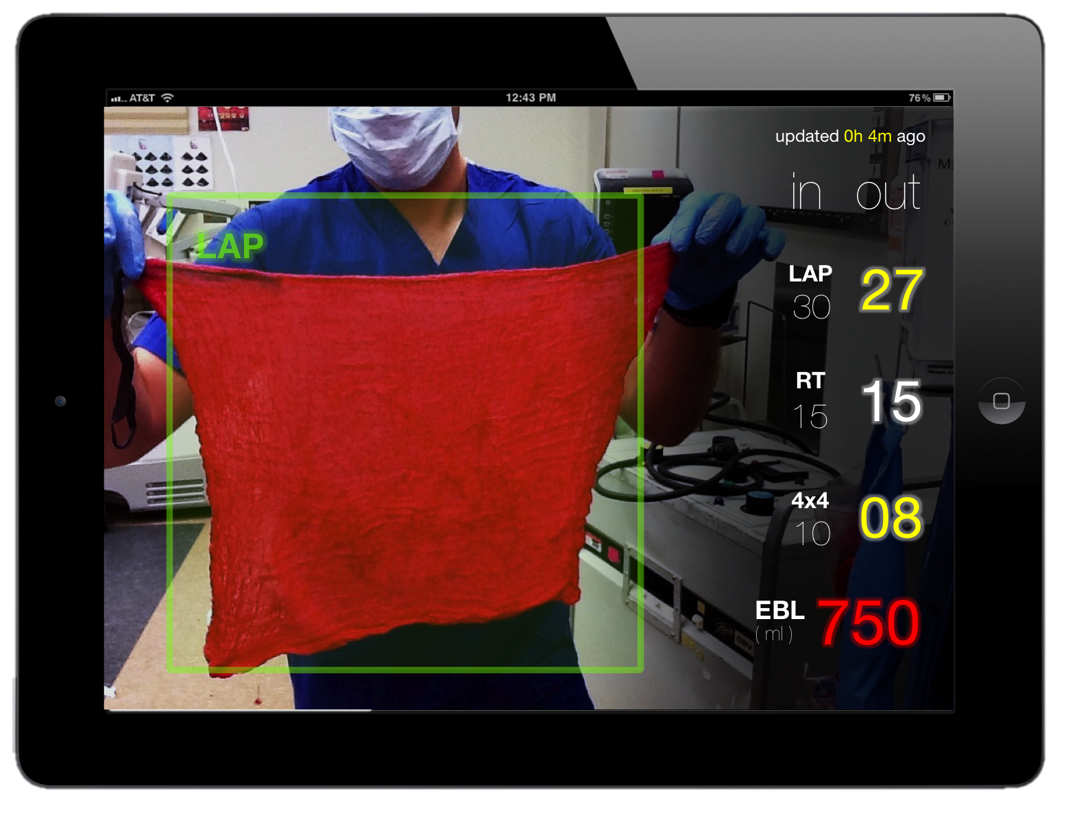 FDA approves Gauss Surgical's app that turns iPads into real-time surgical blood loss monitors