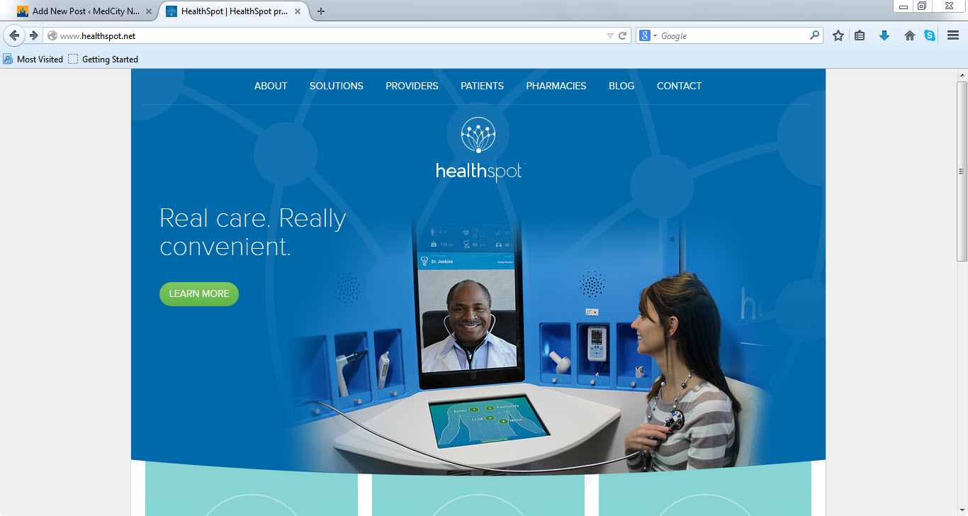 Fast-growing telehealth kiosk maker HealthSpot raising $6M