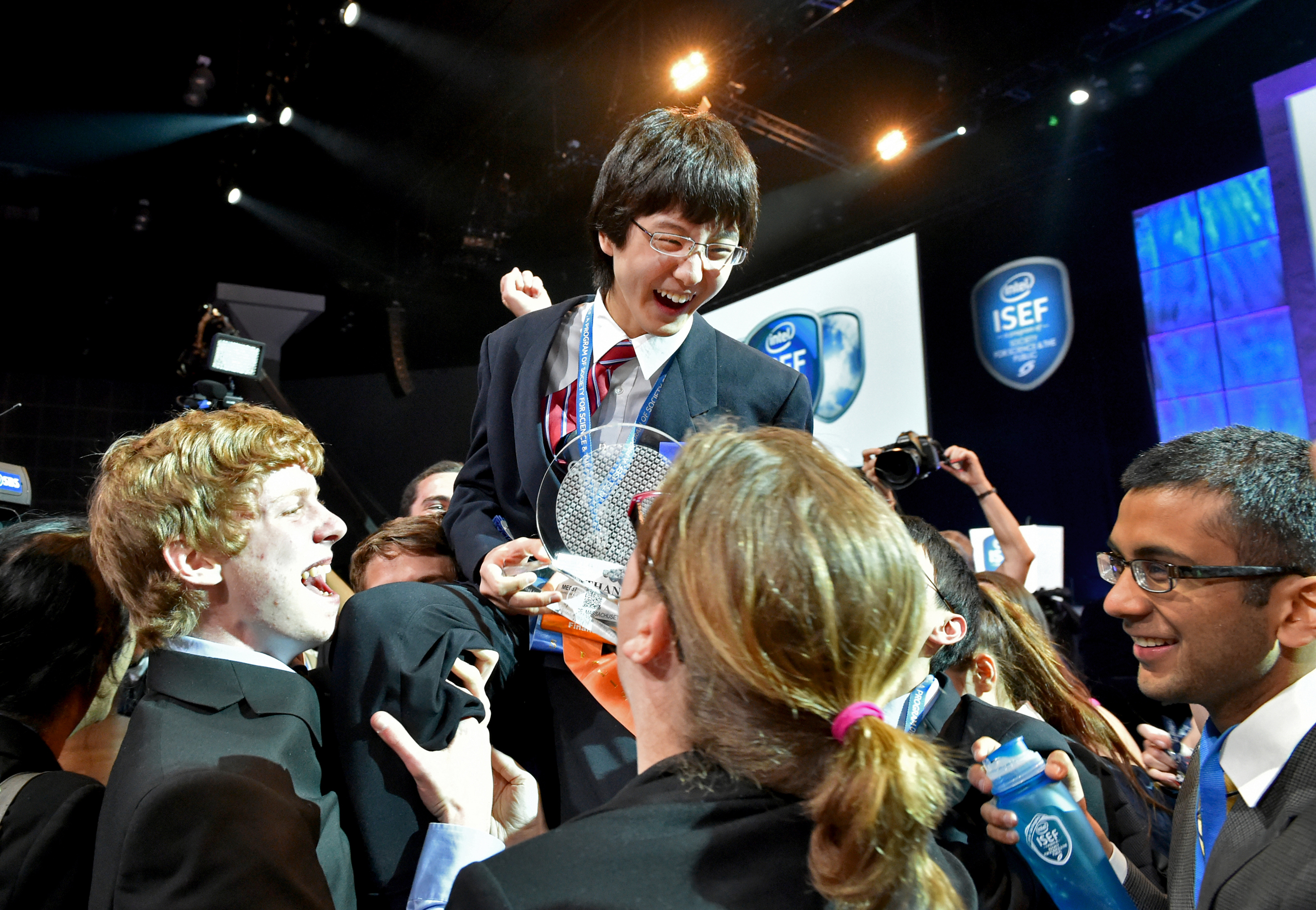 A high school freshman's software for studying cancer genes wins top Intel science fair prize