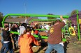 Humana employes build a playground in a day in Louisville, KY.