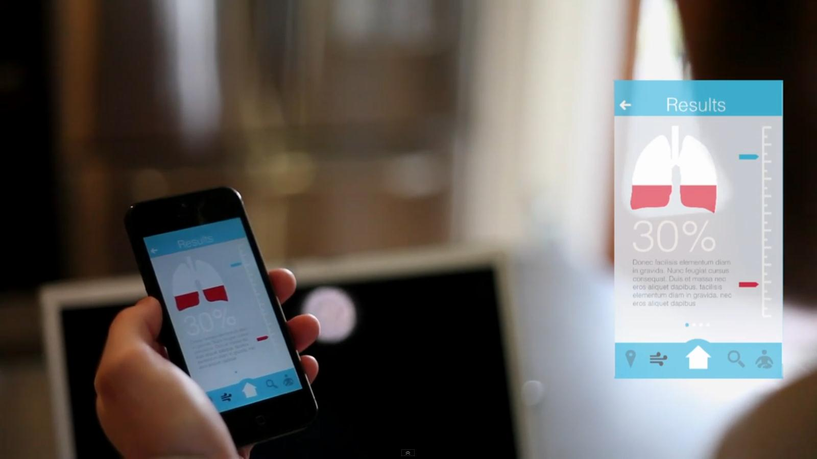 An asthma inhaler and app designed from the patient's point of view