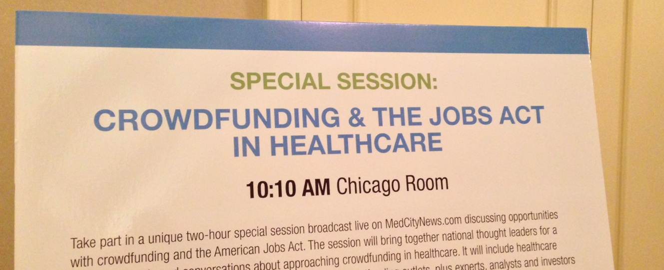 Talk crowdfunding in healthcare in this Google Hangout (#mhvf)