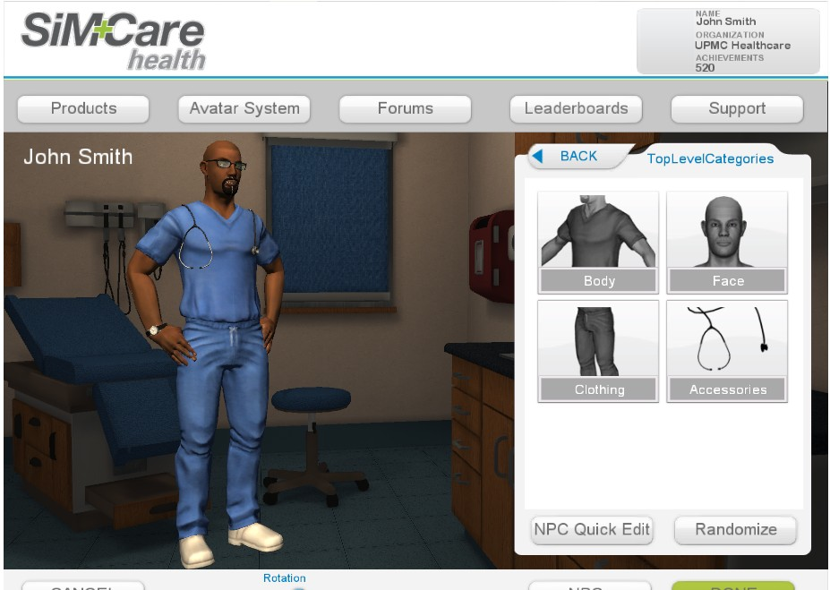 A patient simulator for primary care physicians starts with diabetes