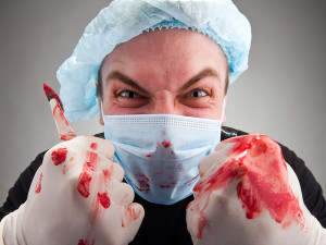 Mad angry surgeon