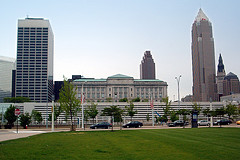 How did Cleveland's major hospitals do in job creation in 2010?