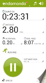 Endomondo mobile app