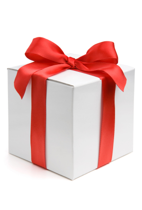 White Gift Box With Red Satin Ribbon Bow Medcity News