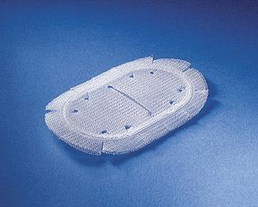 A hernia mesh implant patch