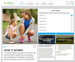 mhealth dashboard from Social Wellth