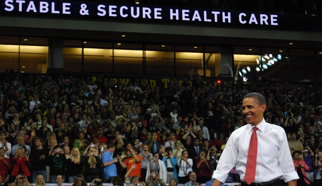 Hospital shares up, insurers down after Obama win