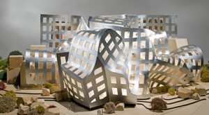 A model of the Lou Ruvo Brain Institute (Via Keepmemoryalive.org)
