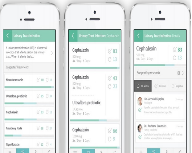 Like a Yelp for medical treatments, this app crowdsources doctors' insights on what works best