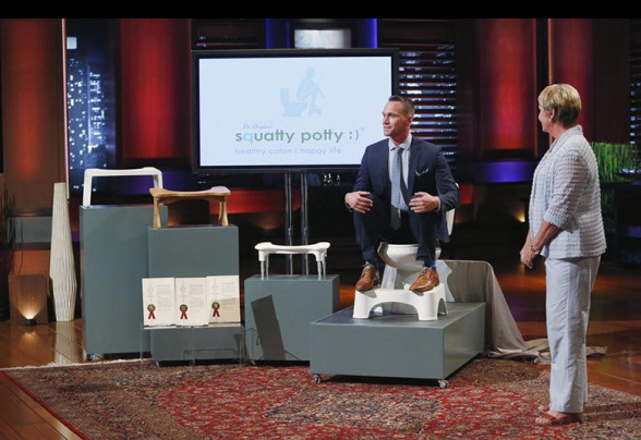 Shark Tank Takes A Bathroom Break With Squatty Potty